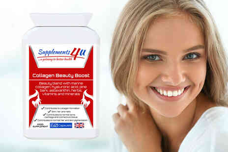 Supplements4U - Two month supply of collagen supplements - Save 71%