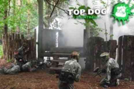 Top Dog Paintball - Paintballing For Up To Two With 100 Balls Each and Smoke Grenades - Save 50%