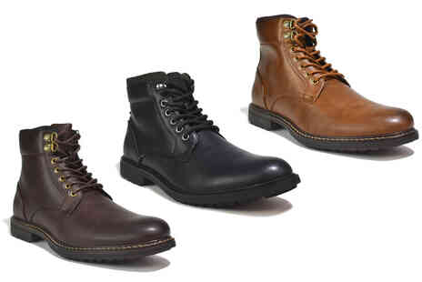 Shoe Fest - Pair of mens lace up winter boots - Save 0%