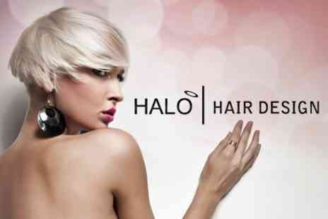 Halo Hair Design - Full Head Of Colour or Highlights Plus Cut, Finish, and Conditioning Treatment - Save 64%