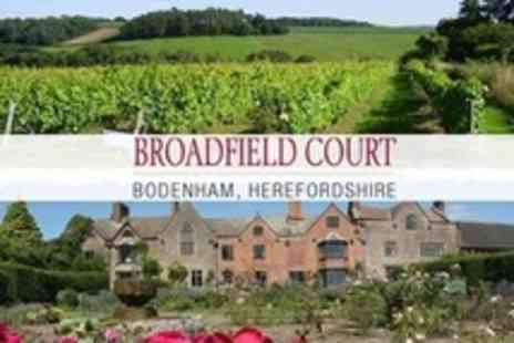 Broadfield Court - Wine Tasting With Two Course Lunch For Two Plus Entrance to Vineyard and Gardens - Save 57%