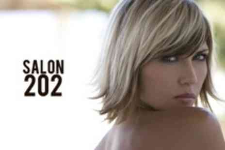 Salon 202 - Full-Head Highlights or Colour With Cut and Blow Dry Plus Hair Mask - Save 78%