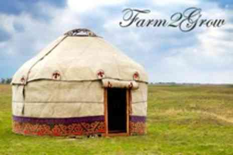 Farm2Grow - Staffordshire Two or Four Night Yurt Stay For Family of Four - Save 50%