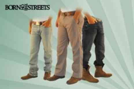 Born on the Streets - Timberland Jeans or Chinos - Save 65%