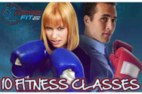 Fighting Fit City Gym - Fighting fit with 10 fitness classes - Save 80%