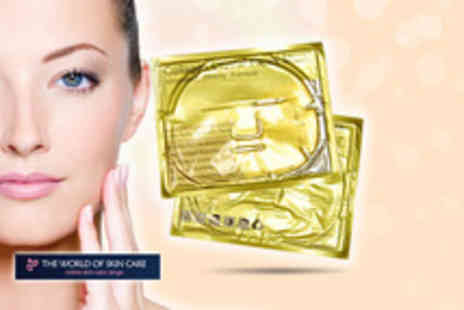 The World of Skin Care - Pack of five gold collagen face masks - Save 9%
