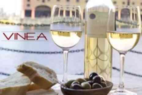 Vinea - Meze Plates For Two With Glass of Wine Each - Save 18%