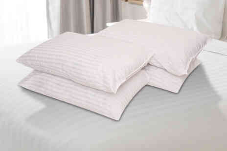 E Home Store - Set of four hotel embossed stripe pillows - Save 70%