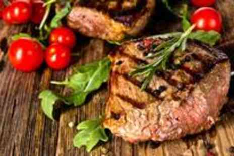 New York Cut - Delicious two course steakhouse meal for two with wine - Save 50%