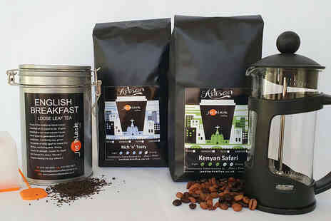 Joe Black Coffee - Luxury coffee and tea hamper including a cafetiere - Save 51%
