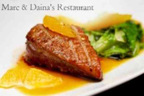 Marc and Daina's - Three Course La Carte Meal For Two - Save 60%