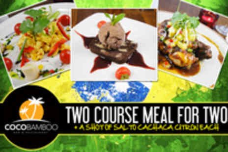 CocoBamboo - Two course meal for two - Save 64%