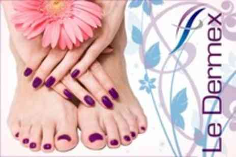 Le Dermex Cosmetic - Gelish Manicure or Pedicure - Save 60%