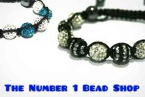 The Number 1 Bead Shop - Two Hour Beginners Shamballa Style Bracelet Making Class - Save 64%