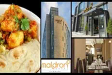 Maldron Hotel Cardiff - Curry, Rice, Naan Bread, Poppadoms & A Drink - Save 55%