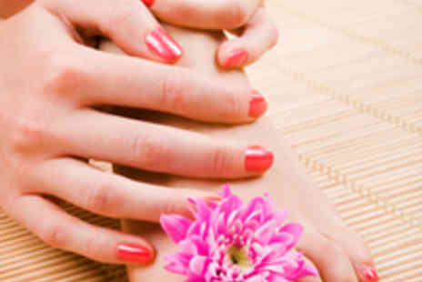 Purity Spa - OPI Manicure and Pedicure with Glass of Bubbly - Save 73%