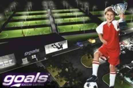 Goals Soccer Centres - Childrens Football Party For Ten With Food and Drinks - Save 64%
