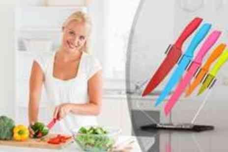 Premier Housewares - Five piece multi coloured knife set - Save 0%