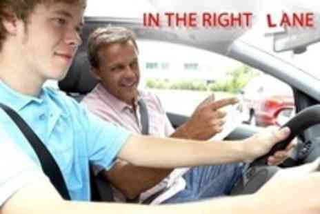 In The Right Lane - Four 60 Minute Driving Lessons - Save 78%