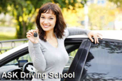 Ask Driving School - 3 hours of driving lessons and online theory training - Save 63%