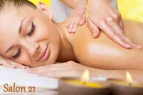 Salon 21 - Back, Shoulder And Neck Massage Plus Mini Facial, Manicure or Pedicure - Save 66%