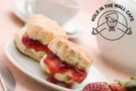 The Hole In the Wall Cafe - Afternoon Tea For Two - Save 50%