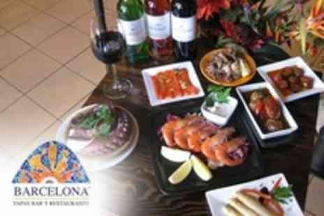 Barcelona Tapas Bar and Restaurant - Six Tapas For Two With Wine - Save 61%