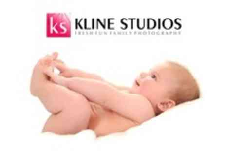 Kline Studios - Three Baby Photo Sessions With Three 5 x7 inch Prints Plus DVD Movie - Save 91%