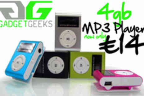 Gadget Geeks - Music on the go 4GB Nano Clip Mp3 Player - Save 69%