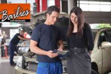 Bailies Auto refinishers - MOT or Winter Check with Oil Filter Change - Save 51%