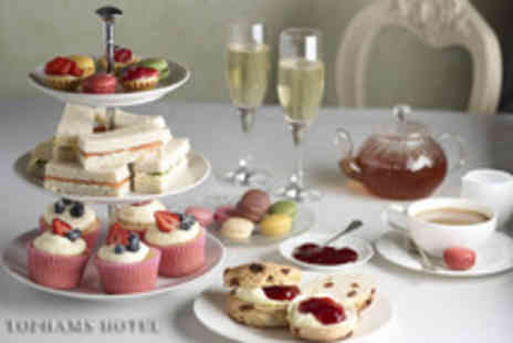 Tophams Hotel - Afternoon tea for 2 including Champagne, sandwiches, scones, pastries - Save 59%