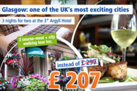 The Argyll Hotel - 3 nights for two people - Save 31%