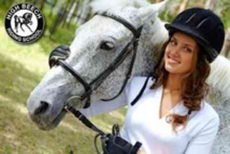 High Beech Riding School - Two Hour Horse Riding Lesson and Hack Through Epping Forest For One - Save 58%