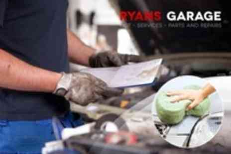 Ryans Garage - Car Air Conditioning Re Gas and Service  With Valet Plus Disinfectant - Save 79%