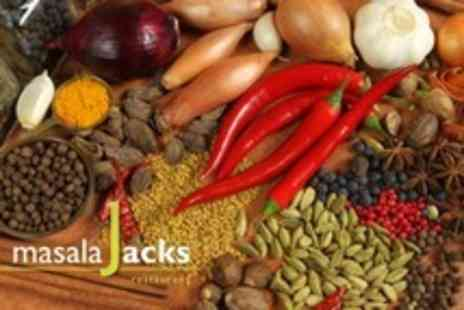 Masala Jacks - Authentic Indian Meal For Two  or Fou  With Poppadoms and Rice or Naan Each - Save 60%
