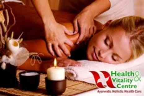 Health and Vitality Centre - Head, Neck, Shoulder and Back Massage With Warm Oil Forehead Therapy - Save 57%