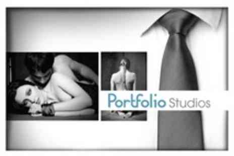 Portfolio Studios - Themed Boudoir Photoshoot With Makeover Plus Image CD - Save 89%