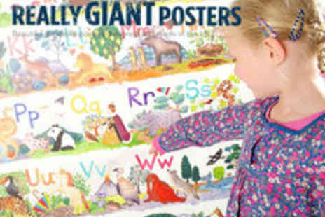 Really Giant Posters - Choice of 1 giant Abc and Numbers Posters - Save 50%