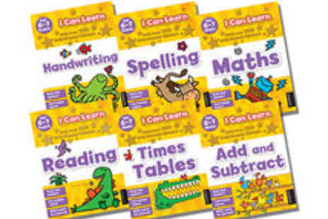 KidsIQ - Best selling I Can Learn Six Book Series Includes Spelling, Maths, Timetables, Handwriting - Save 58%
