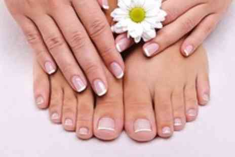 Refine Nails - Luxury Manicure and AHA Pedicure - Save 64%
