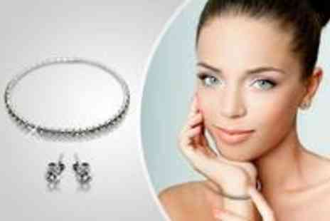 Jewellery Select - Tennis bracelet and earrings set - Save 91%