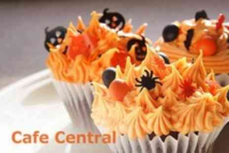 Cafe Central - Cupcake Decorating Class Halloween or Vintage Themed With Six Cakes To Take Home - Save 50%