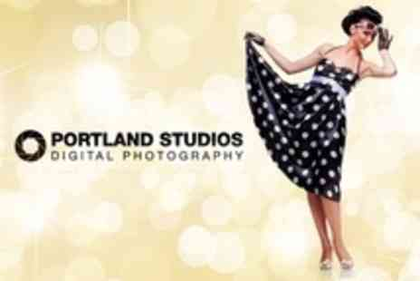 Portland Studios - Pin Up Style Photoshoot With Makeover, Print and Disk - Save 20%