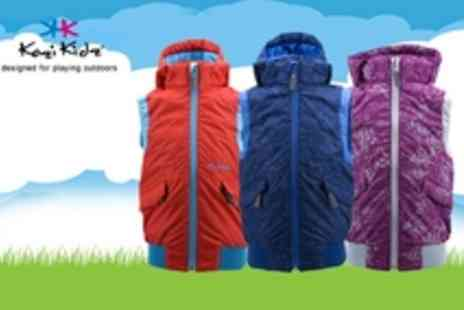 Kozi Kidz - Keep Your Kids warm on chilly days and breezy evenings with Kozi Kidz Hooded Gilets, only for £18.00 instead of £36.00 - Save 50%
