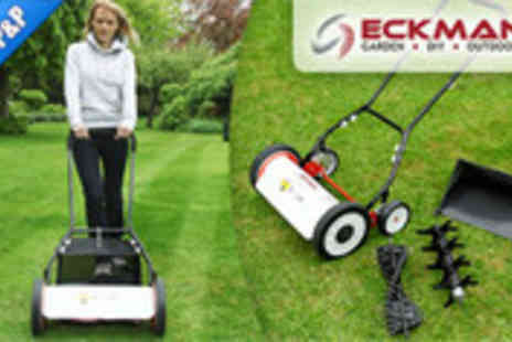 MySmartBuy.com - 3 in 1 push operated lawn mower scarifier and aerator - Save 45%