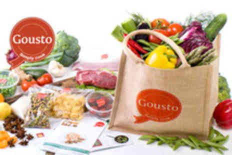 gourmet ingredients - Box of fresh gourmet ingredients for 3 chef designed meals for 2 people - Save 60%