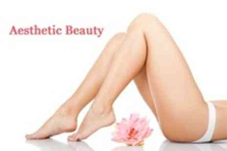 Aesthetic Beauty - Six IPL Hair Removal Sessions on Brazilian Bikini Line or Lower Legs - Save 93%