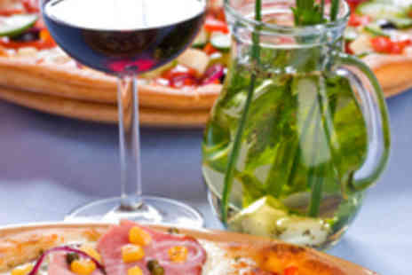 Bar Eight - Two Pizza and Chips Meals with Wine or Beer - Save 54%