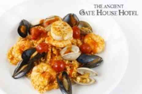The Ancient Gatehouse - Two Course Italian Meal With Wine - Save 61%