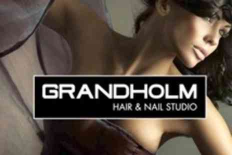 Grandholm Hair Studio - Full Head Tint, Cut, and Blow Dry With L Anza Condition - Save 50%